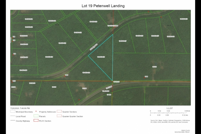 Lot 19 Petenwell Landing Aerial Map
