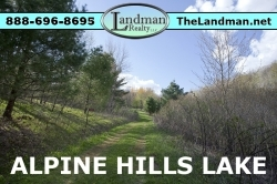 1802835, Deeded Access Lot for Sale Alpine Hills Lake
